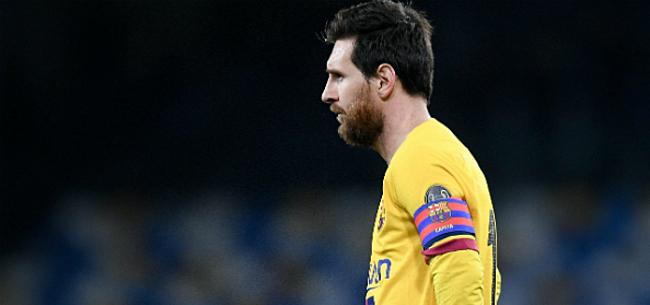Foto: Messi helemaal neergesabeld: