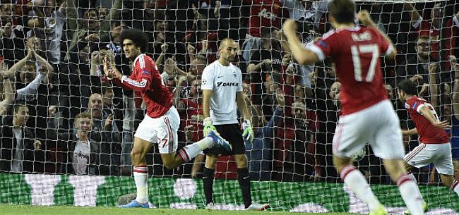 Foto: Belgische clubs op Old Trafford: 10-0, goal van Fellaini en enkel nederlagen