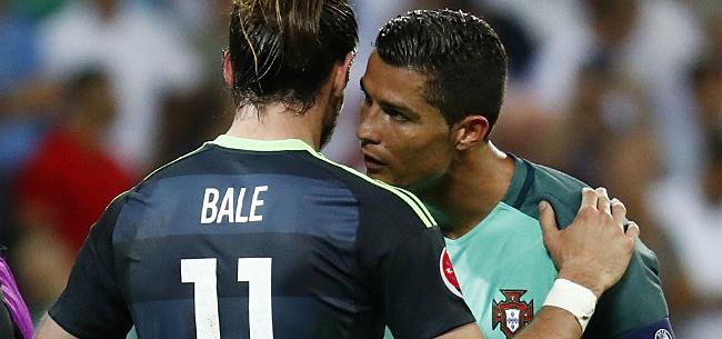 Foto: Ronaldo onthult wat hij Bale toefluisterde na halve finale EK