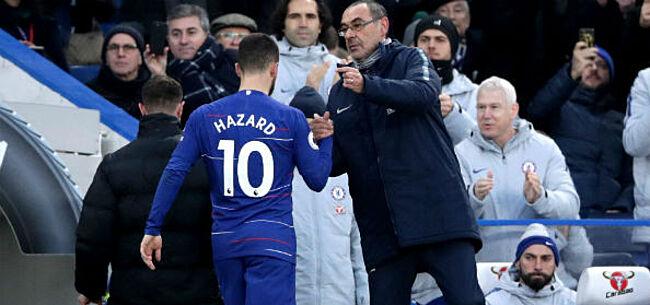 Foto: Sarri deelt prik uit aan Hazard: