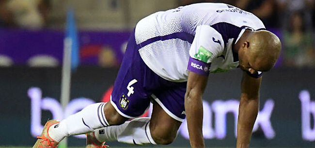 Foto: Ramp voor Anderlecht: Kompany valt geblesseerd uit