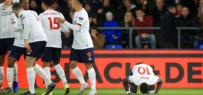 Foto: Liverpool kruipt door het oog van de naald en wint bij Crystal Palace