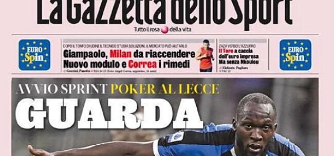 Foto: Lukaku maakt Italiaanse media meteen lyrisch: