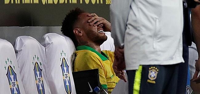 Foto: Neymar klapt vol door enkel en mist Copa America