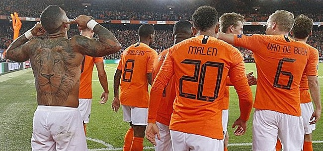 Foto: Oranje ontsnapt in extremis aan zwaarwegende nederlaag