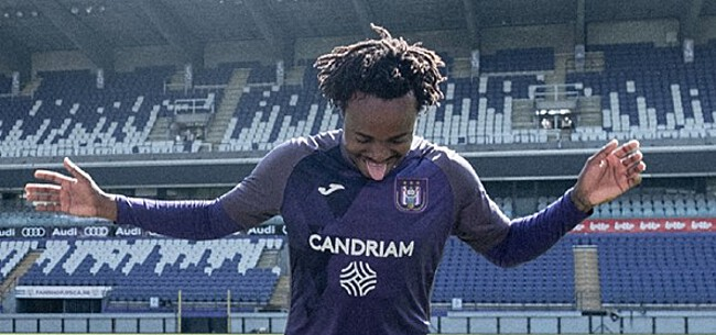 Foto: Tau debuteert meteen met een goal bij Anderlecht