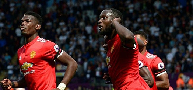 Foto: Man Utd, met invallers Lukaku en Fellaini, wint nipt van Leicester City