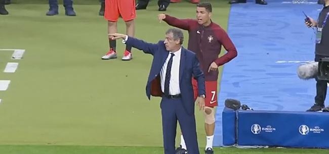 Foto: Prachtig! Zo beleefde Cristiano Ronaldo het EK van aan de zijlijn