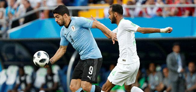 Foto: Suárez jaagt Uruguayaanse fans flinke angst aan richting kwartfinale