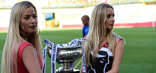 Foto: Blonde schone bij Supercup blijkt vriendin Standard-sterkhouder