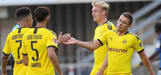 Foto: Dortmund verstevigt tweede plaats met zuinige zege in Belgisch duel