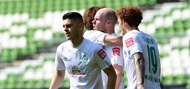 Foto: Werder Bremen viert behoud na miraculeus slot