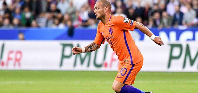 Foto: Wesley Sneijder hangt de schoenen aan de haak
