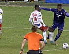 Foto: Geurtje aan strafschop Anderlecht: 'Duiker'