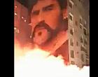 Foto: Napels in brand na overlijden Maradona (🎥)