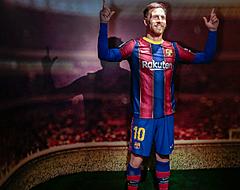 Barça onthult schabouwelijk wassen beeld Messi (📷)