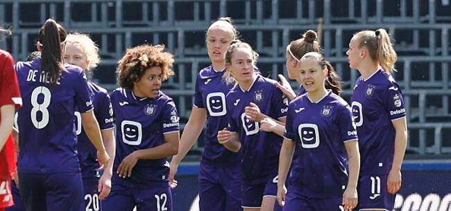 Foto: Wullaert trapt dames Anderlecht naar landstitel