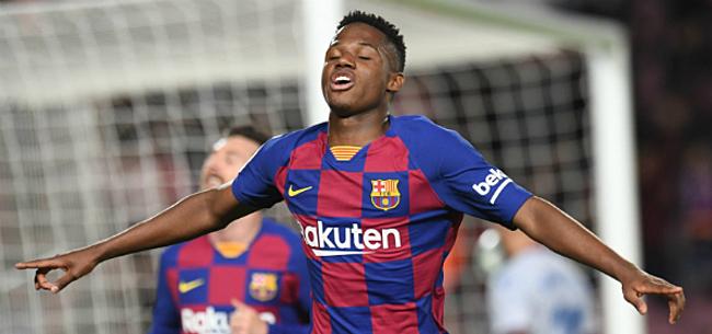 Foto: Schuift Barça toptalent Fati aan de kant?