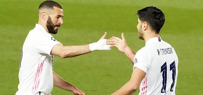 Foto: Hazard ziet Real Madrid schitteren van op de bank: 6-1!