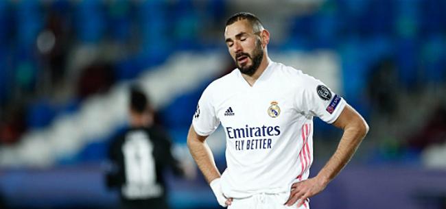 Foto: Benzema bezorgt Ancelotti eerste tegenslag bij Real