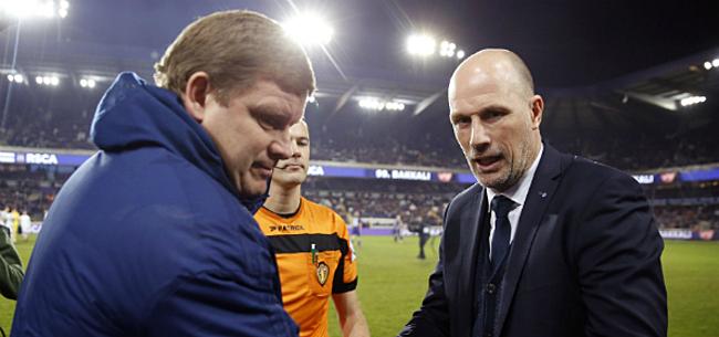 Foto: Vanhaezebrouck slaat terug na sneertje van Clement