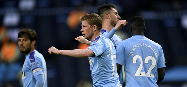 Foto: City kent geen genade met Burnley, De Bruyne valt uitstekend in