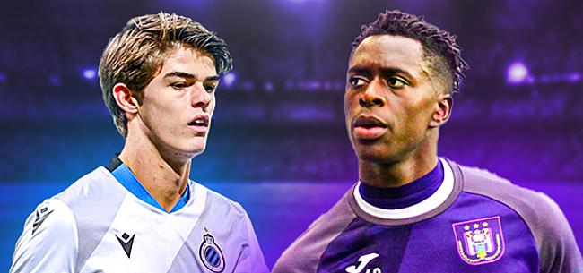 Foto: Anderlecht meer 'talent' dan Club Brugge? De proef op de som