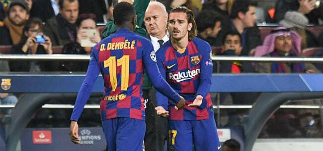 Foto: 'Barcelona zet halve selectie in het uitstalraam'