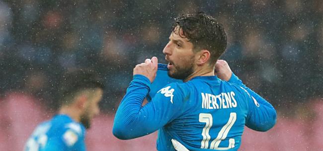 Foto: Mertens in problemen bij Napoli: