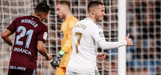 Foto: Eindelijk! Hazard viert wederoptreden bij Real Madrid