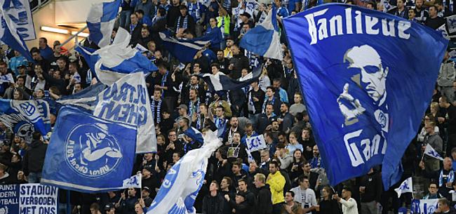 Foto: Fans wijzen gebaar AA Gent resoluut af