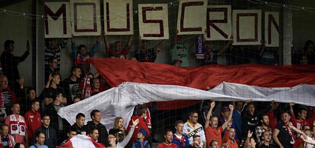 Foto: Grimmige sfeer in Moeskroen: fans uiten onvrede