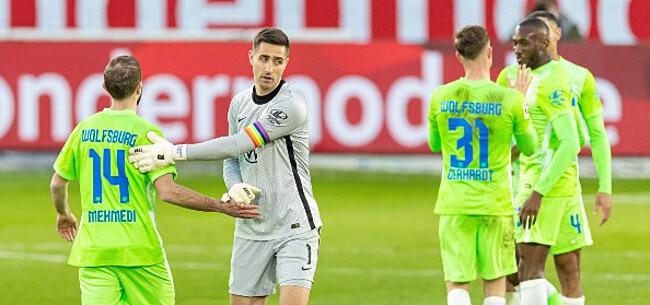 Foto: Wolfsburg-Belgen zien perfecte reeks eindelijk eindigen