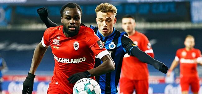Foto: Club Brugge en Antwerp in 2021 matig in topmatchen