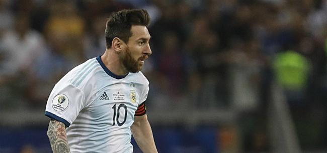 Foto: Messi maakt hartverwarmend gebaar in Argentinië