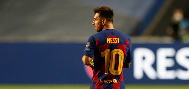Foto: 'Messi clasht keihard met Barça-teamgenoot'