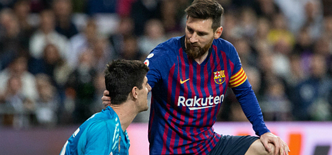 Foto: Courtois domineert Messi met straffe Clasico-stat