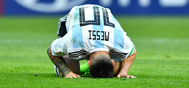 Foto: Argentinië pakt brons op Copa America ondanks rode kaart Messi