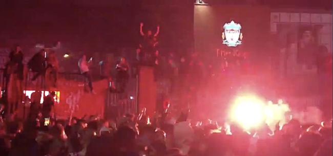 Foto: Negen arrestaties, Liverpool hard voor eigen fans