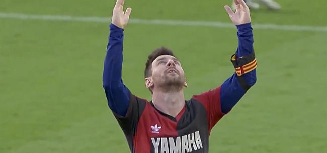 Foto: Barça haalt fors uit: heerlijk eerbetoon Messi aan Maradona