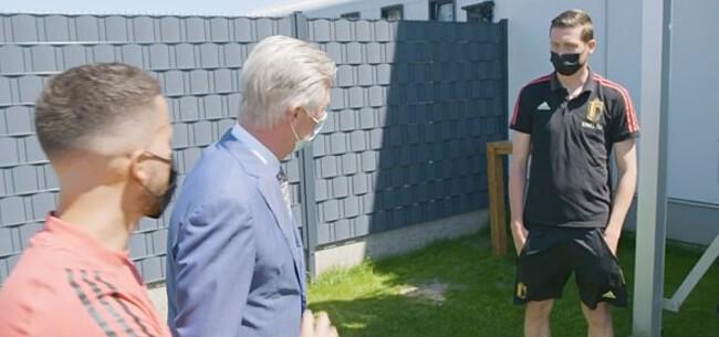 Foto: Vanaken zorgt voor bijzonder beeld bij koninklijk bezoek