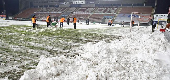Foto: Sneeuwvoetbal krijgt staartje: Genk en KVK hopen op forfaitzege