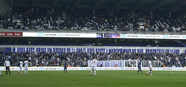 Foto: Anderlecht-aanhang heeft scherpe boodschap voor Coucke