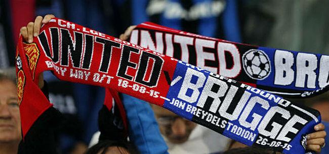 Foto: Man Utd-fans houden optocht door centrum Brugge