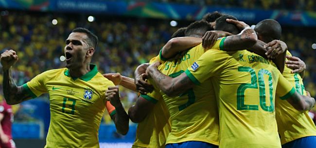 Foto: Messi schiet te laat wakker: Brazilië naar finale Copa