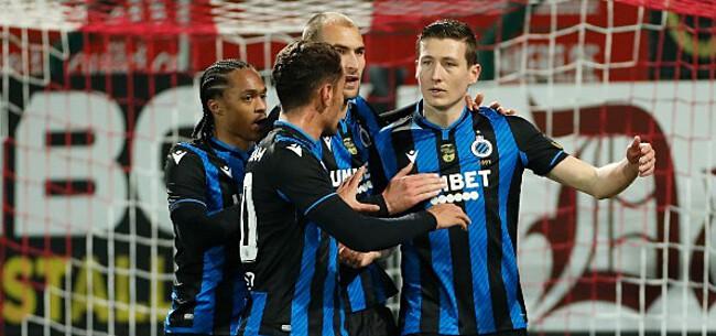 Foto: Slechts zes teams in Europa blijken dominanter dan Club Brugge