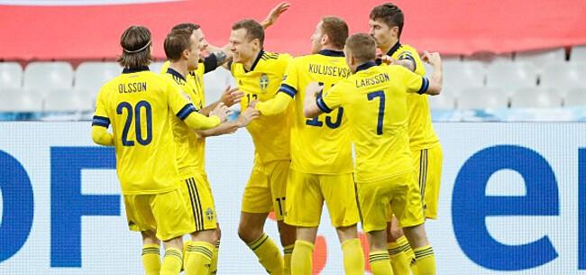 Foto: Zweden helemaal klaar voor EK met tweede zege, debuut voor Gent-speler