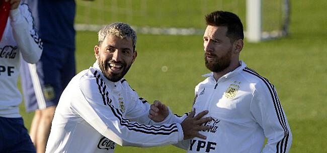 Foto: Agüero doet speculaties over transfer Messi naar Man City verder oplaaien