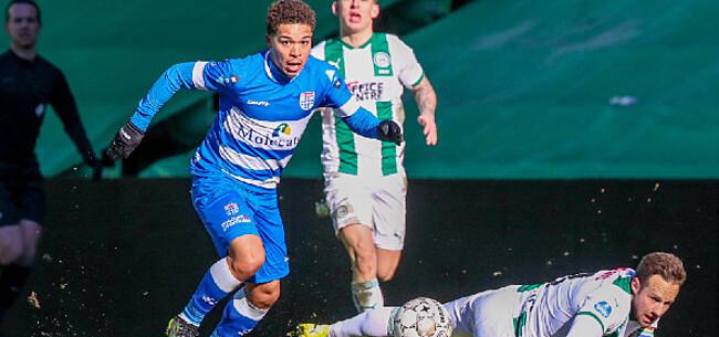 Foto: Benson schrijft na amper vijf matchen al geschiedenis bij Zwolle