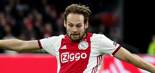 Foto: Ajax komt met de schrik vrij nadat Blind neerzijgt tijdens match